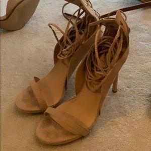 Nasty Gal wrap up ankle heels